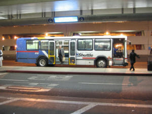 Airport shuttle bus at LAX