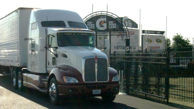 White truck at Talladega