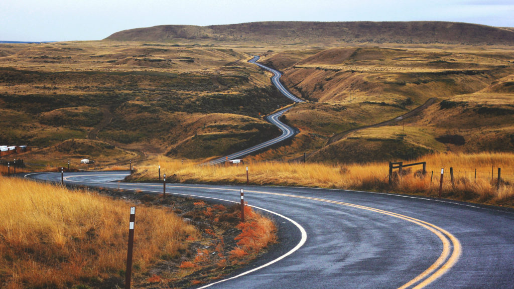 Long winding road through America