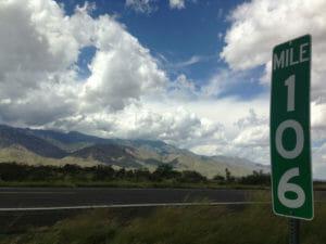 Mile marker 106 on the highway