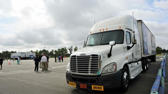 Trucking school lot