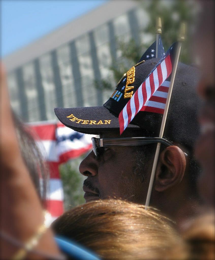 Veteran with baseball cap