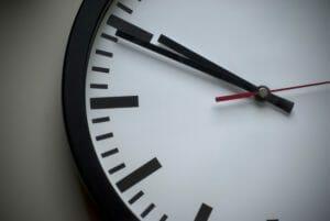 Clock ticking away