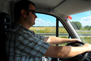Rookie truck driver heads out for delivery