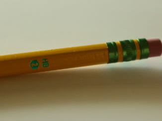 End of a yellow pencil