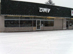 DMV office in the snow