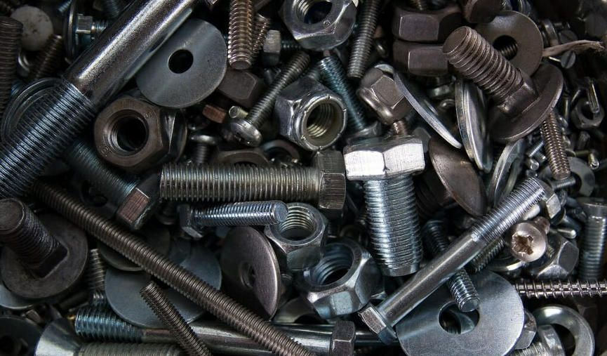 Assortment of nuts and bolts