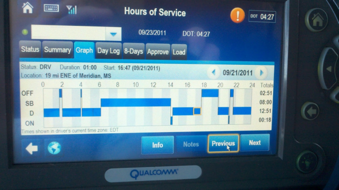 Qualcomm device for truck drivers