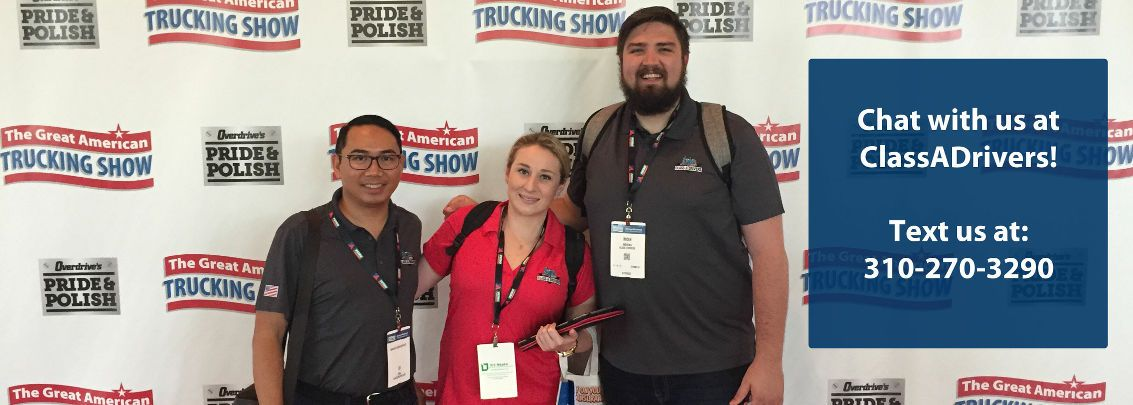 The Class A Drivers team at The Great American Trucking Show.