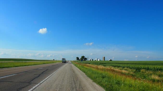 Iowa open road