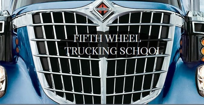 Fifth Wheel Trucking Logo on front grill of truck